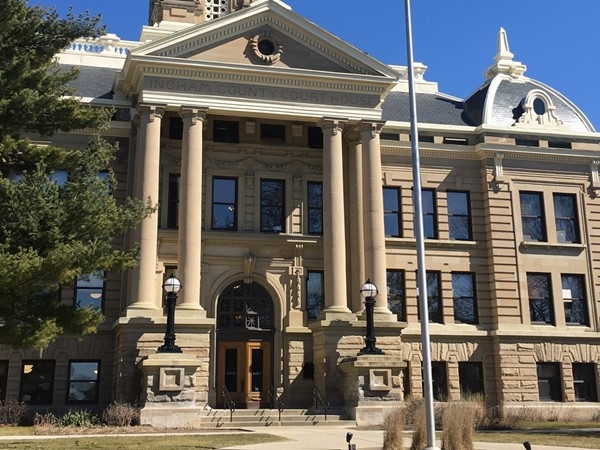 The beautiful and historic Ingham County Courthouse in the heart of Mason