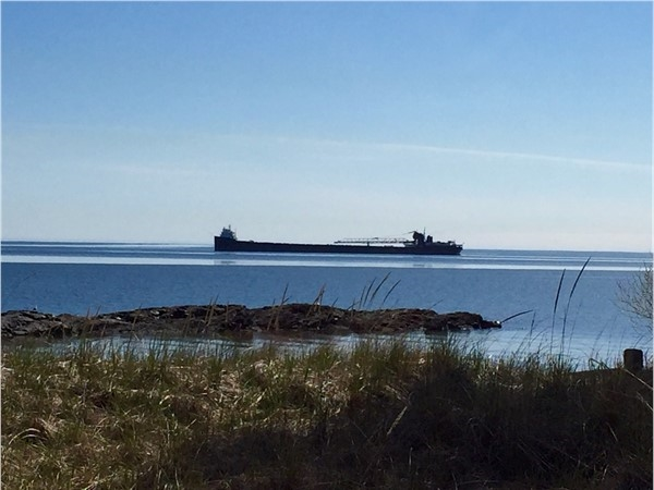 Lake Freighters up to 1000' long can carry 70,000 tons of iron ore!  A sight to see in Marquette
