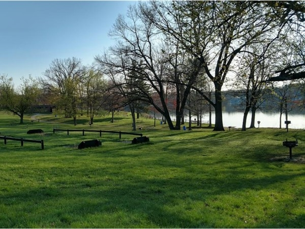 Horseshoe pits at Ortonville Recreation Area