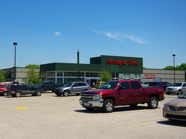 Montague Foods, our hometown grocery store, with Mike's Pharmacy inside