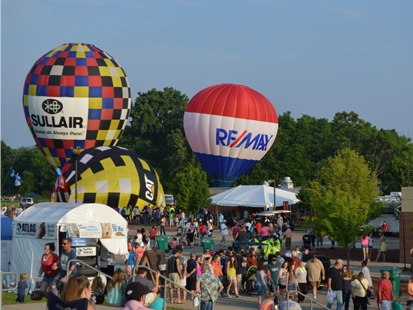 The famous RE/MAX balloon launches every year at The Howell Balloonfest