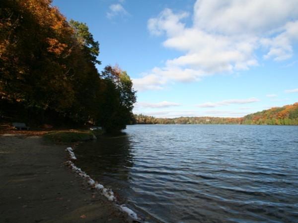 One of the Dunham Lake beaches
