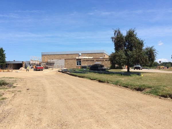 Lots of new construction is still going on at Lakeshore Middle School