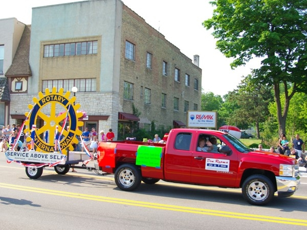 Rotary International float for the White Lake 4th of July Parade
