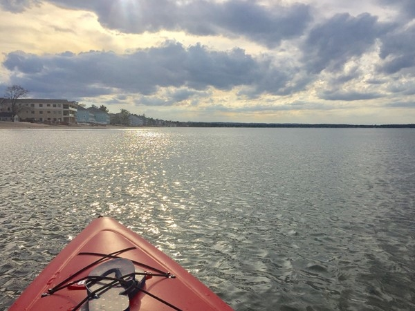 East Bay is empty in the spring; no docks, jet skis or boats to dodge! Paddle safe