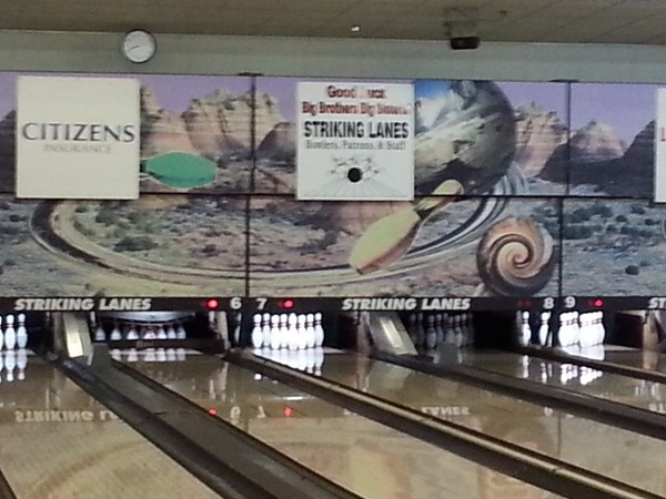 Striking Lanes in Hartland.  Great place to bowl and get together with friends