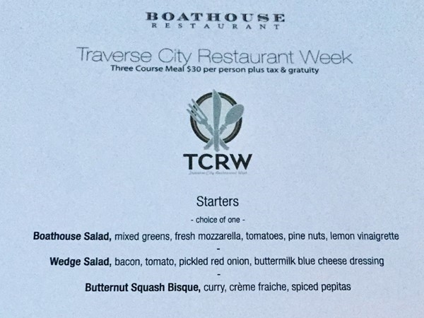 The Boathouse Restaurant sets the standard for deliciousness during Restaurant Week 2017