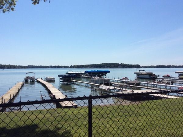 Private docks along Park Street