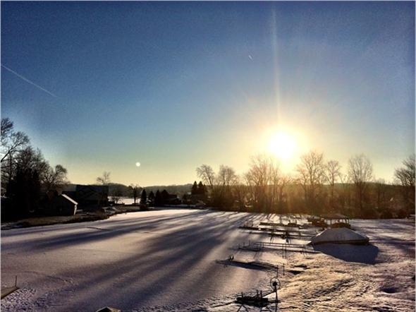 Sunrise on Runyan Lake