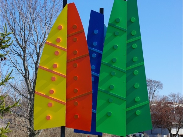 Sailboats or trees?  They're both!  We love public art in the White Lake area.
