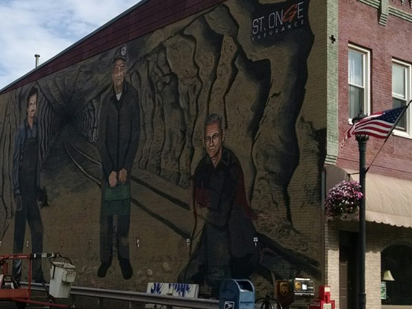 This three story mural of local miners is almost complete. A great addition to downtown