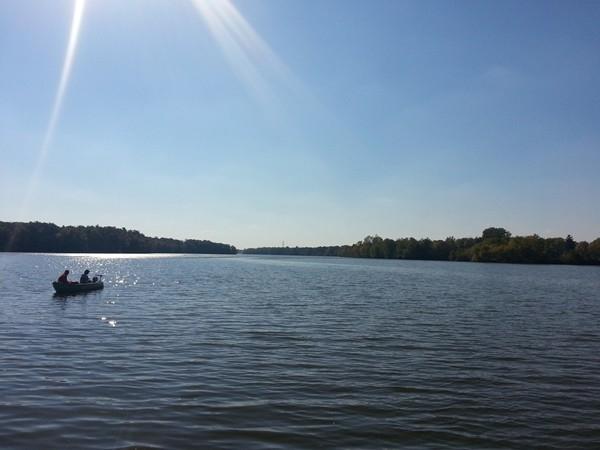 Fall fishing on Kearsley Lake in Genesee