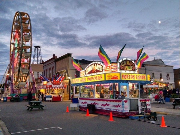 "Beautiful ""fall"" evening at the carnival"
