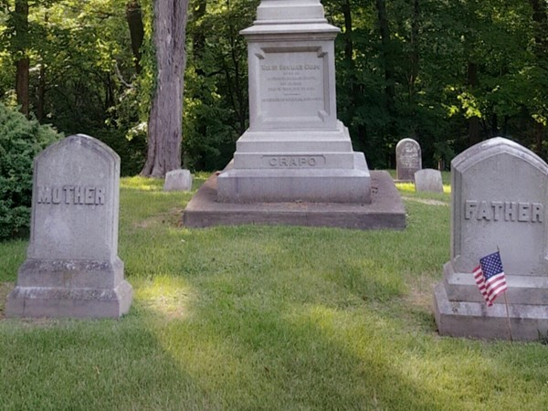 Michigan Governor Crapo's final resting place