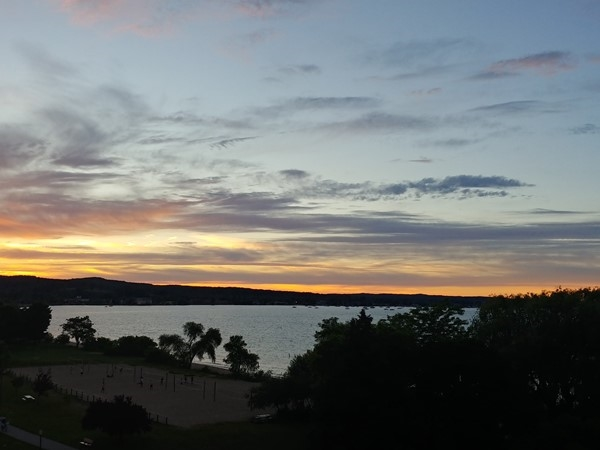 An evening with friends and a sunset over the Leelanau Peninsula and West Bay...TC Fridays