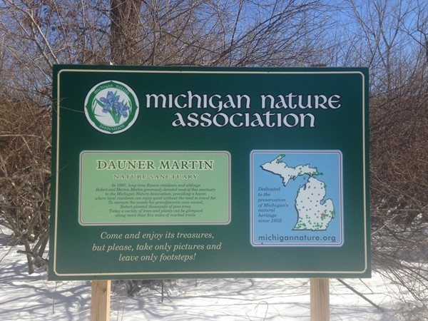 Dauner Martin Nature Sanctuary is my favorite place to get out on the wooded trails in Fenton.