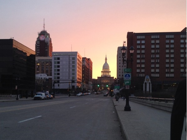 Downtown Lansing the place to be in the summer so many great festivals and dinning.