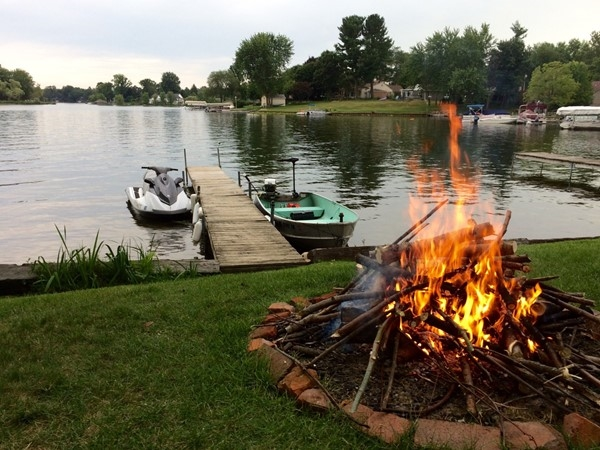 It's the little things. Evenings at Goguac Lake in Battle Creek