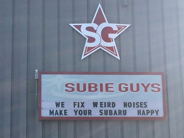 Subie Guys...the shop for Subaru owners/lovers in Traverse City