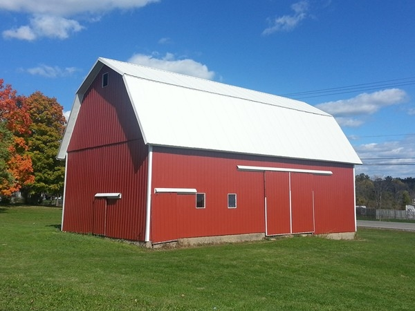 Meuller's Orchard has beautiful barns and out buildings