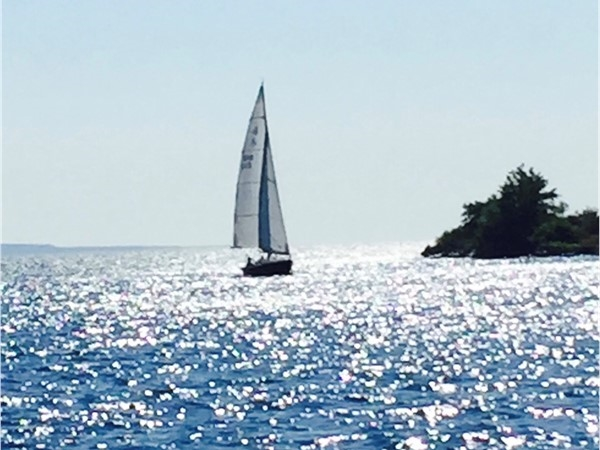 Sailing off the tip of Harbor Point Association in Harbor Springs MI