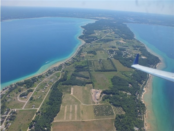 Old Mission Peninsula from above