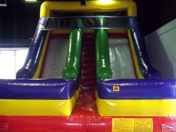 Castaway Play Cafe, bounce slide