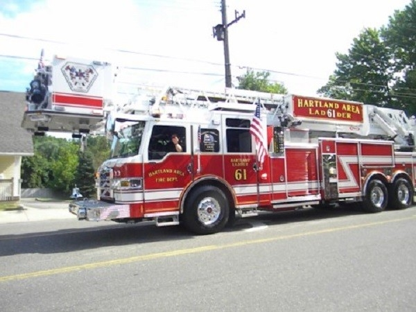 Hartland Fire in the Brighton 4th of July Parade!