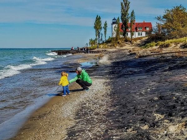 Point Betsie on Lake Michigan