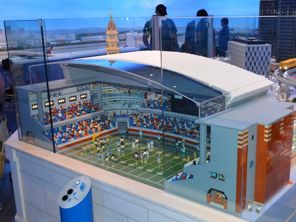 Lego Land at Great Lakes Crossing, replica of Ford Field