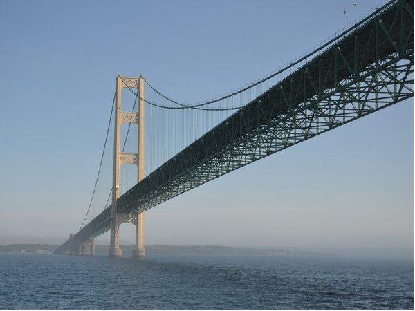 What makes Michigan unique? An island and a bridge to an upper peninsula