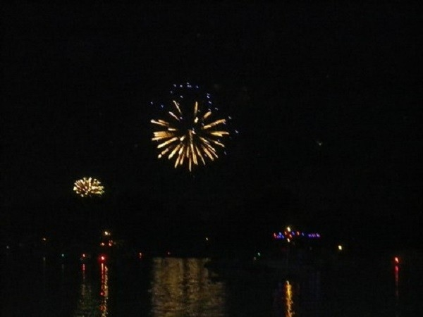 Fireworks on Lake Ponemah for 4th of July!