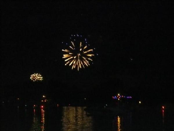 Fireworks on Lake Ponemah for 4th of July!