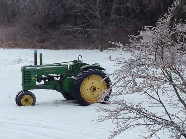 Antique tractors are a common site in this rural, farming community