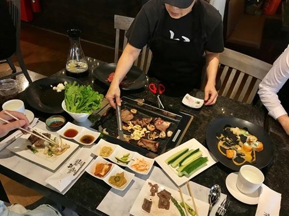 Taste testing for the soft opening of our new restaurant in town ...  Goki Goki Korean Barbeque