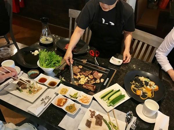 Taste testing for the soft opening of our new restaurant in town, Goki Goki Korean Barbeque