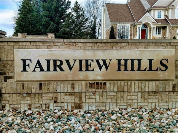 Fairview Hills, beautiful subdivision located in the village of beautiful Goodrich