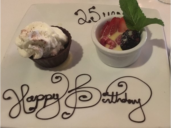Ruth Chris is a wonderful place to celebrate! Whether you are 25 yrs old or 25 again