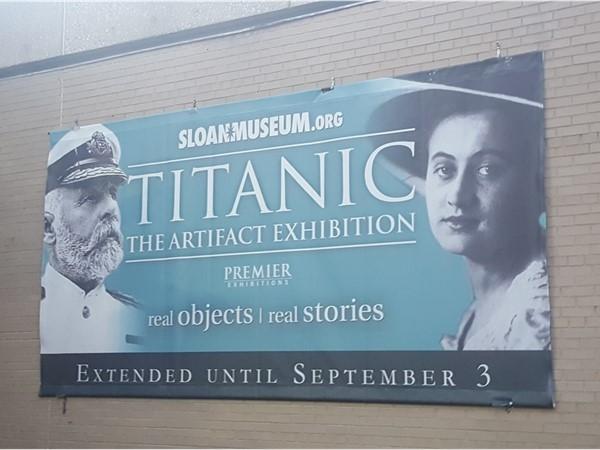 The Titanic Exhibit at Sloan Musuem