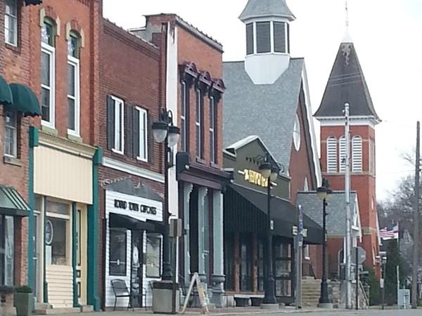 Downtown Fenton, historical Dibbleville