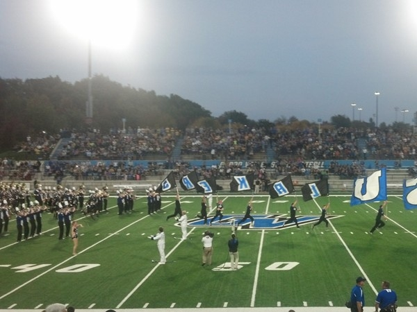 GVSU marching band with past Rockford High Marching Band