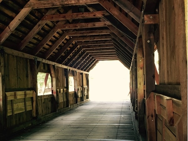 We love the living history and architectural beauty of this Lake Ann covered bridge