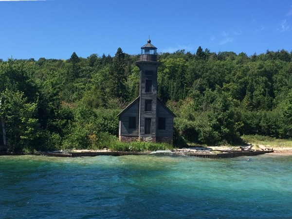 You can view the Grand Island east channel light on the glass bottom boat tour in Munising