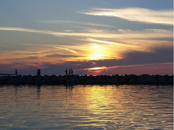 Sunset on Lake Michigan at the Boardwalk in Petoskey