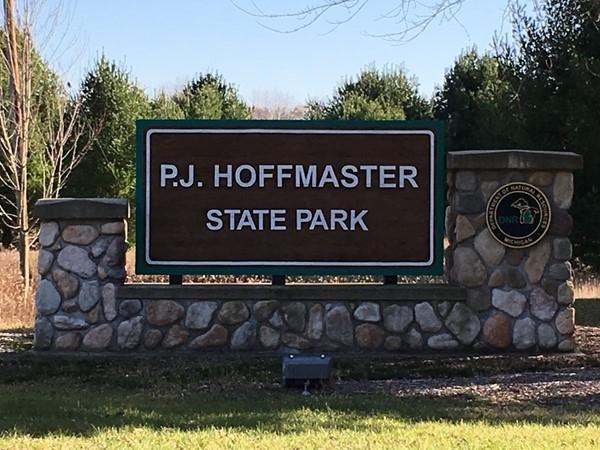 Entrance to PJ Hoffmaster State Park