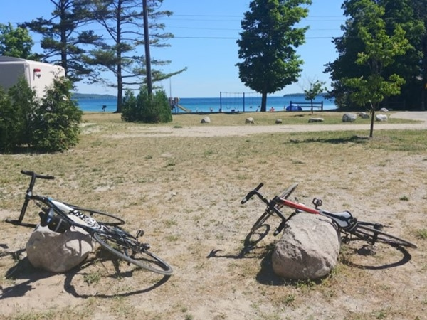 Take a ride out to Stoney Point, then enjoy lunch and paddle boarding at Suttons Beach