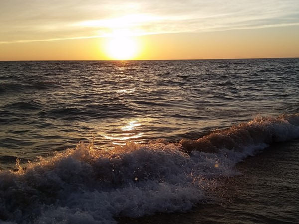 Sunsets and waves on Lake Michigan