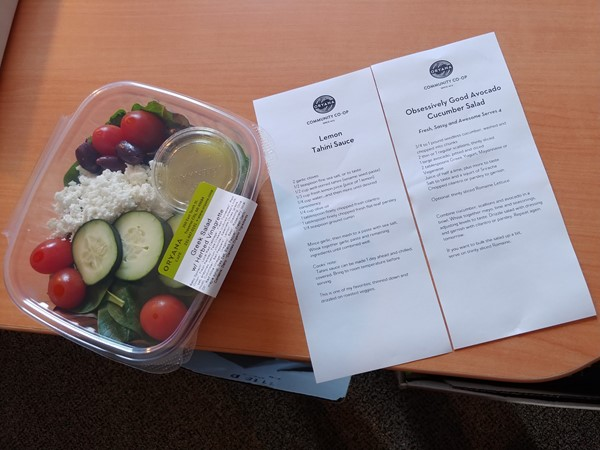 Lunch plus a dinner plan! Thanks Oryana