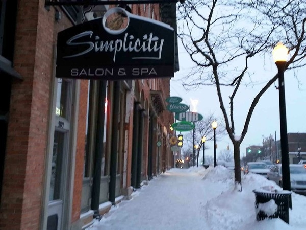 Simplicity Salon & Spa downtown. Clearys Pub local hotspot for years!