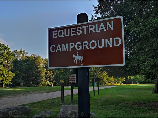 Beautiful equestrian camp ground in Hadley Metamorphosis Recreation Area